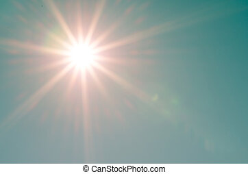 sunshine on blue sky background