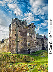 Sunshine on Scottish Castle - Afternoon sunshine on a...