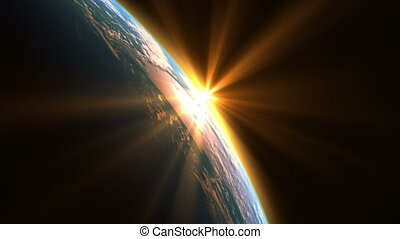 Sunshine Over The Earth