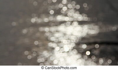 Sunshine reflected on the water surface