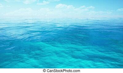 sunshine sea by 3D rendering scene