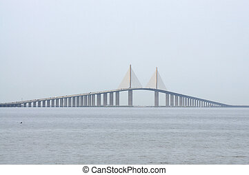 Sunshine Skyway Bridge over the Tampa Bay, Florida