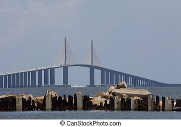 Sunshine Skyway Bridge Tampa Bay Florida