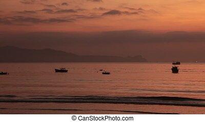 Sunshine Time Lapse Morning Sky Vietnam - A time lapse fiery...