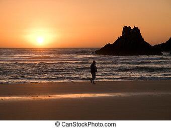 Sunsuet in the beach