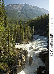 Sunwapta Falls, Rocky Mountains