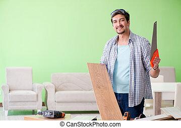 suo, officina, lavorativo, carpentiere