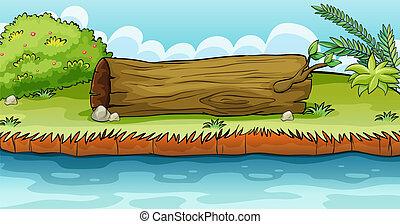 suolo, dire bugie, tronco