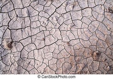 suolo, fesso, struttura, secco, fondo