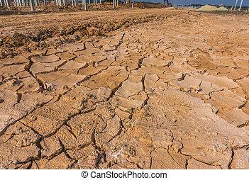 suolo, luogo costruzione, crepa