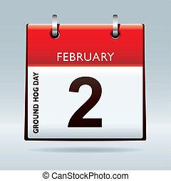 suolo, maiale, giorno, calendario