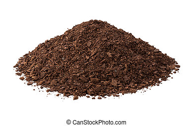 suolo mette vaso, isolato, bianco