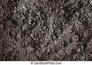 suolo nero, sporcizia, fondo, struttura