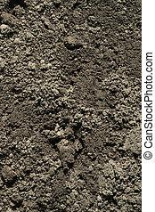 suolo nero, sporcizia, fondo, struttura, modello naturale