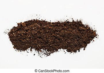 suolo, struttura, fondo, isolato, bianco