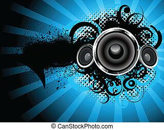suono, astratto, grunge, fondo