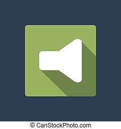 suono, bottone, icona