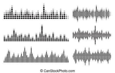 suono, collezione, onda