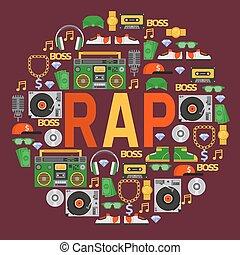 suono, cuffie, dj, fondo, disco, discjockey, modello,...