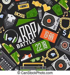 suono, cuffie, dj, fondo, disco, discjockey, soldi, vettore,...