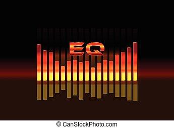 suono, equalizzatore, onda, illustrazione, v