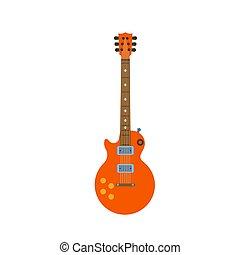 suono, gioco, silhouette, illustration., disegno, metallo, isolato, chitarra, strumento, vettore, musica, roccia, acustico, elettrico, icona, musicale, cordicella, art.