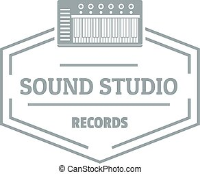 suono, grigio, stile, semplice, studio, logotipo