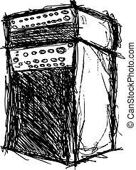 suono, grunge, gabinetto