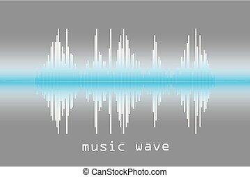suono, illustration., onda