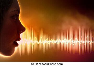 suono, illustrazione, onda