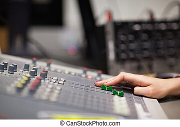 suono, mano, regolazione