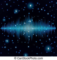 suono, mistico, scintille, baluginante, segno