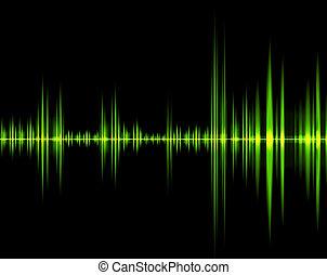 suono, verde, onda
