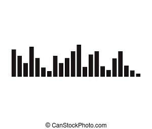 suono, vettore, -, illustrazione, onda