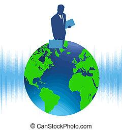 supérieur monde, dans, business, vecteur