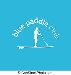 SUP paddle logotype