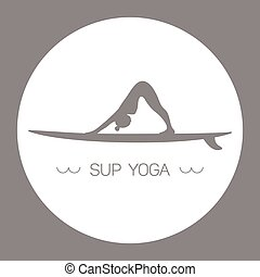 SUP Yoga grey - Logo for Stand up Paddle Yoga....