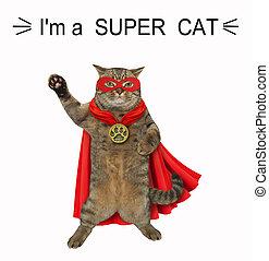 super, 2, herói, gato