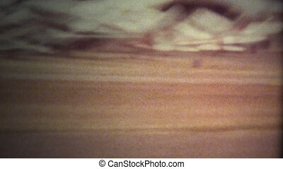 (Super 8 Film) Airplane Takeoff - A vintage super 8mm...