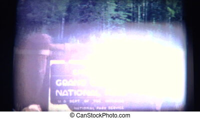 (Super 8 Film) Grand Canyon Park - A vintage super 8mm...