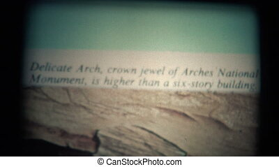 (Super 8 Film) Utah Delicate Arch - A vintage super 8mm...