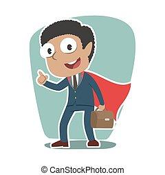 Super african businessman vector illustration