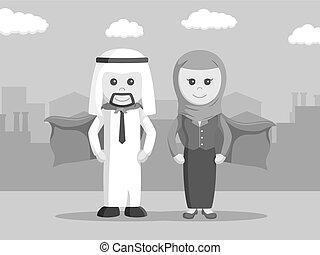 super arab businessman and super arab businesswoman