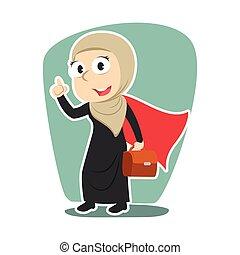 Super arabian businessman illustration vector