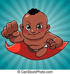 Super Baby Abstract Background Black