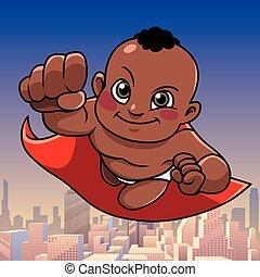Super Baby Black City Background