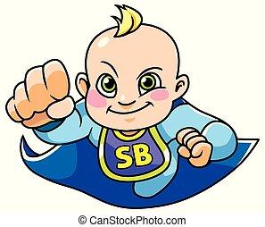 Super Baby Boy Flying