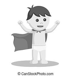 Super baby boy illustration design