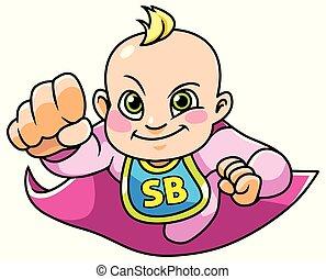 Super Baby Girl Flying