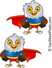 Super Bald Eagle Character - 1 - A vector illustration on a...